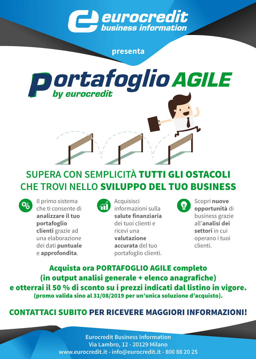 PORTAFOGLIO AGILE in promo sino ad Agosto 2019